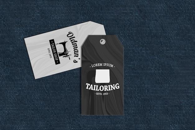 Maquete de produto de etiqueta de roupa
