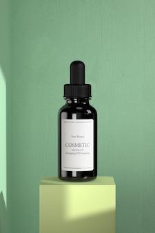 Maquete de produtos cosméticos premium, hidratantes e cuidados com a pele