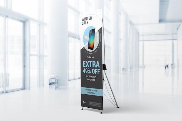 Maquete de promoção x-banner