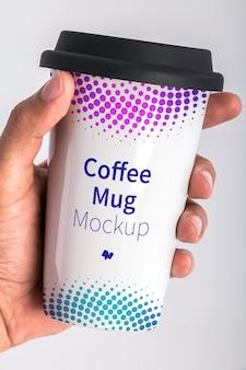 Maquete de psd de caneca de café