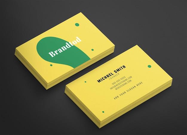 Maquete de psd de cartão de visita elegante