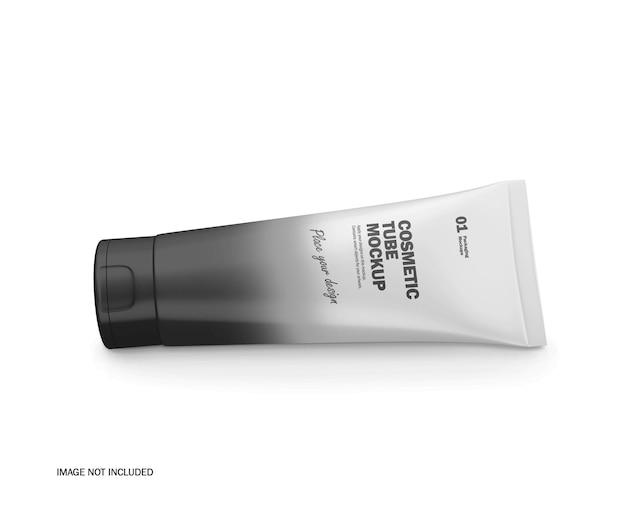 Maquete de psd de tubo cosmético de plástico 3d fosco
