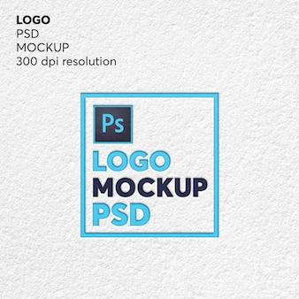 Maquete de psd do logotipo