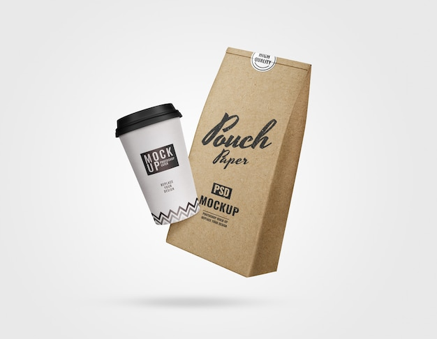 Maquete de publicidade de café