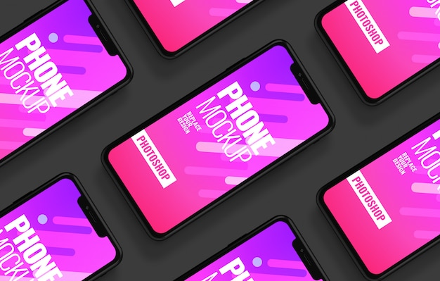 Maquete de publicidade de interface de smartphone
