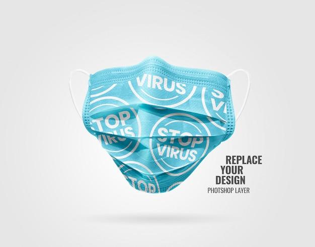 Maquete de publicidade de máscara médica