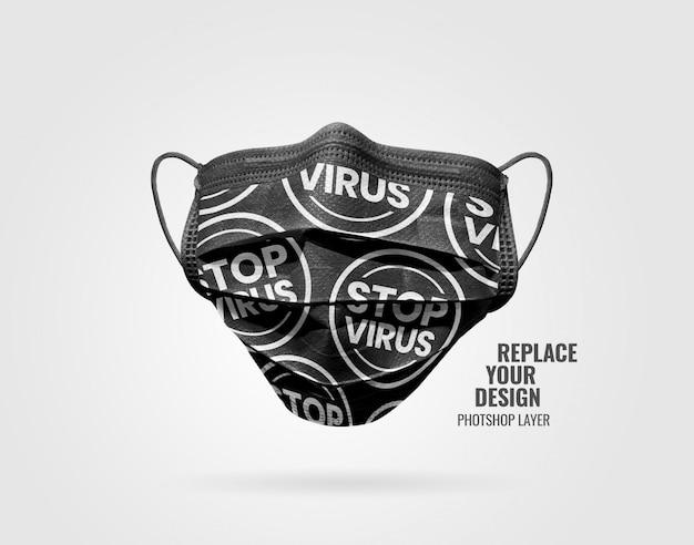 Maquete de publicidade de máscara preta