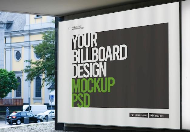 Maquete de publicidade de outdoor