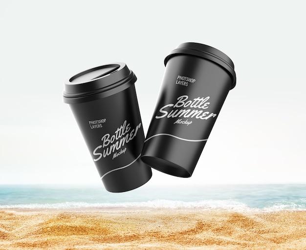 Maquete de publicidade de praia de verão