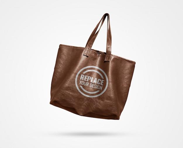 Maquete de publicidade de sacola