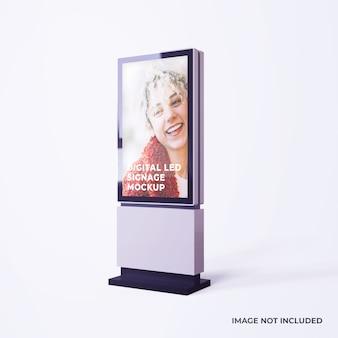 Maquete de publicidade de sinalização digital led