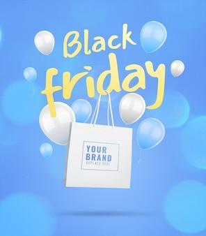 Maquete de publicidade de venda black friday