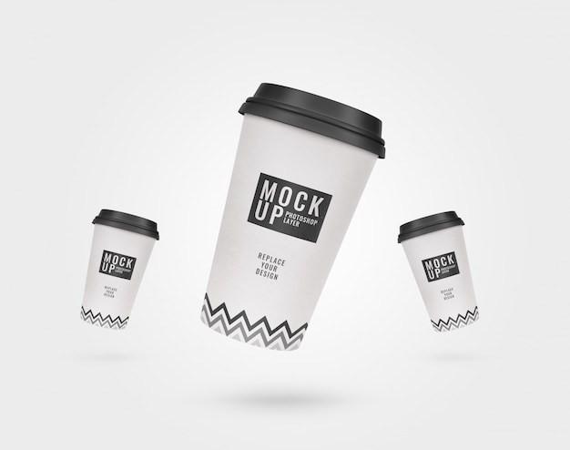 Maquete de publicidade de xícara de café