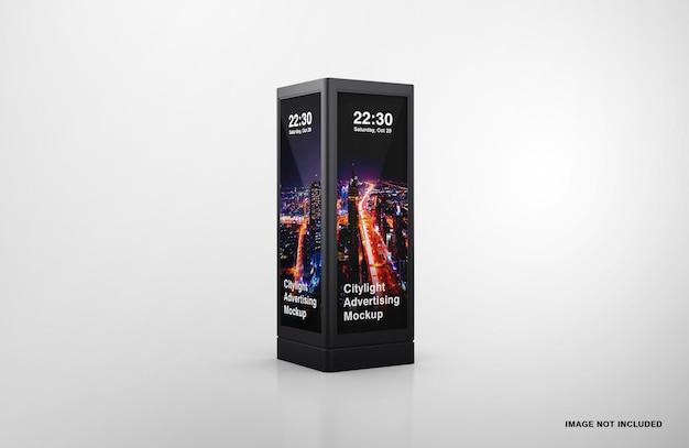 Maquete de publicidade digital led para iluminação urbana