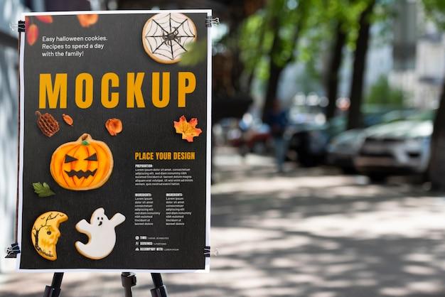 Maquete de publicidade urbana ao ar livre