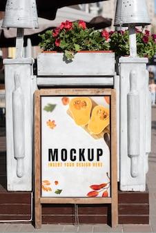 Maquete de publicidade urbana ao ar livre Psd grátis