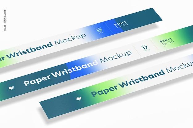 Maquete de pulseira de papel, close-up