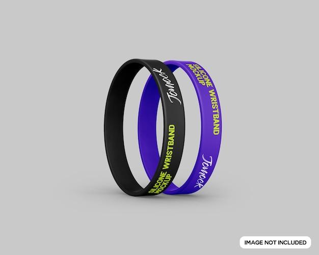Maquete de pulseira de silicone