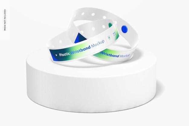 Maquete de pulseiras de plástico