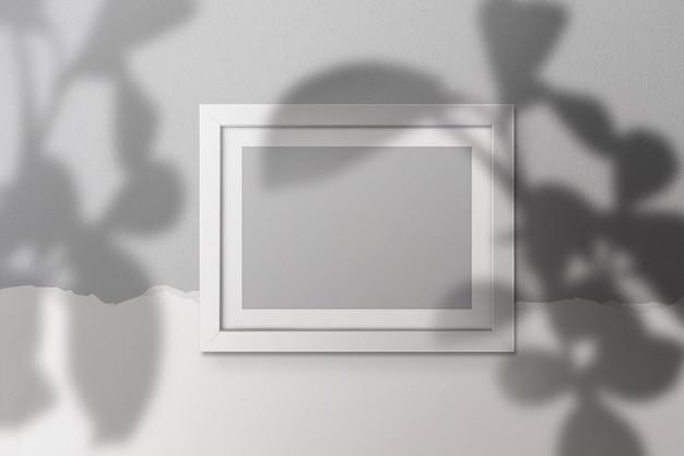 Maquete de quadro a4 com sombra