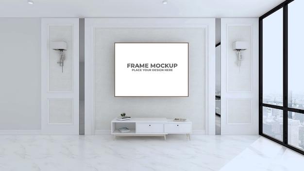 Maquete de quadro bonito com interior elegante
