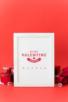 Maquete de quadro com conceito de dia dos namorados