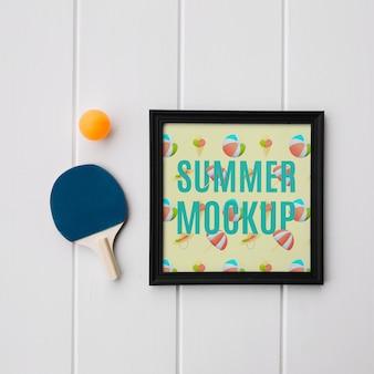 Maquete de quadro com conceito de verão