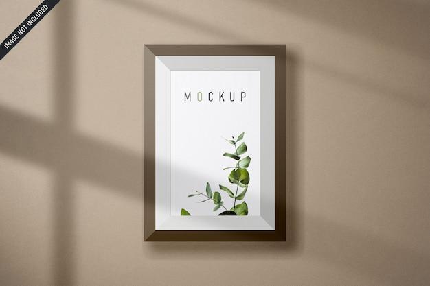 Maquete de quadro com detalhes de sombra