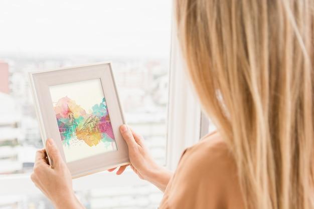 Maquete de quadro com o conceito de arte studio
