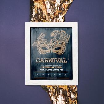Maquete de quadro com o conceito de carnaval