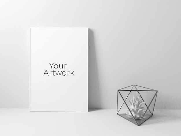 Maquete de quadro de cartaz limpo