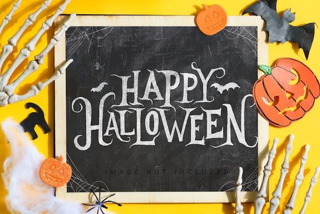 Maquete de quadro de feliz halloween