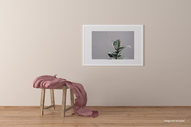 Maquete de quadro de paisagem minimalista