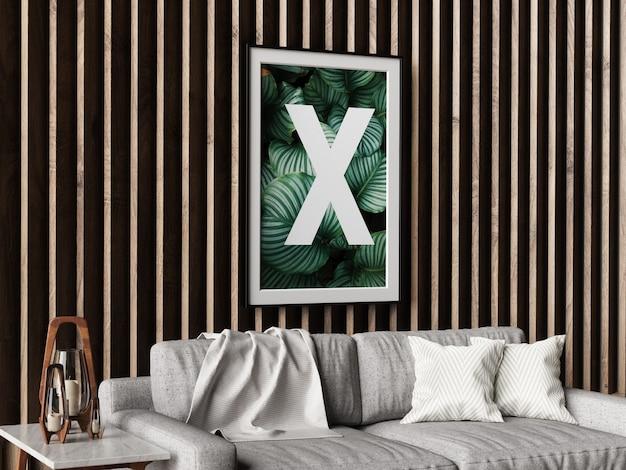 Maquete de quadro de parede única