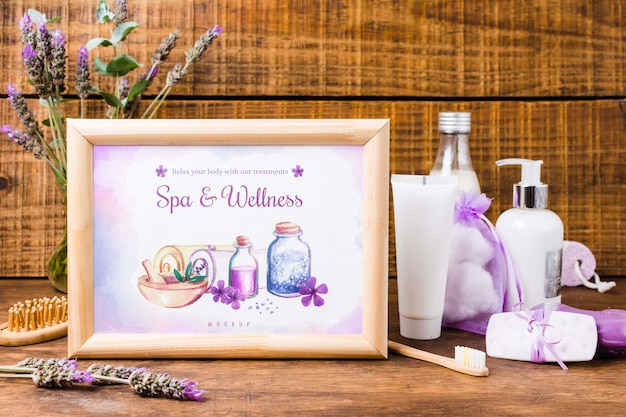 Maquete de quadro de spa e bem-estar