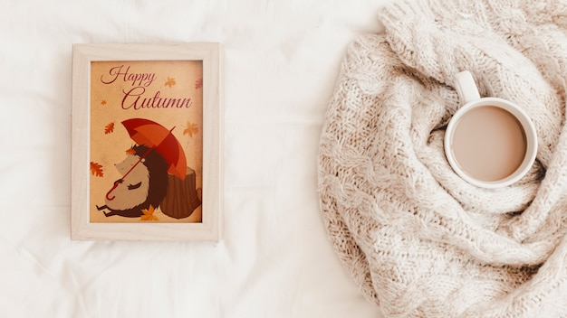 Maquete de quadro e outono