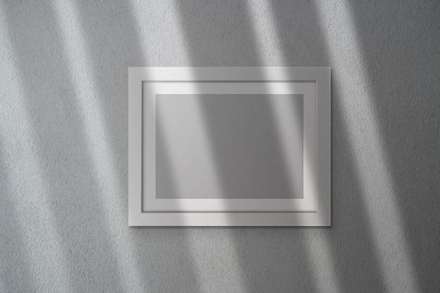 Maquete de quadro em branco com sombra