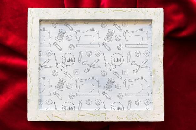 Maquete de quadro em têxtil