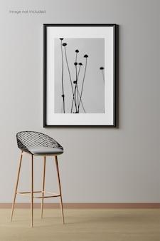 Maquete de quadro minimalista