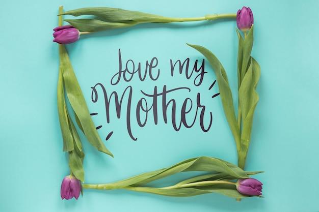 Maquete de quadro para o dia das mães