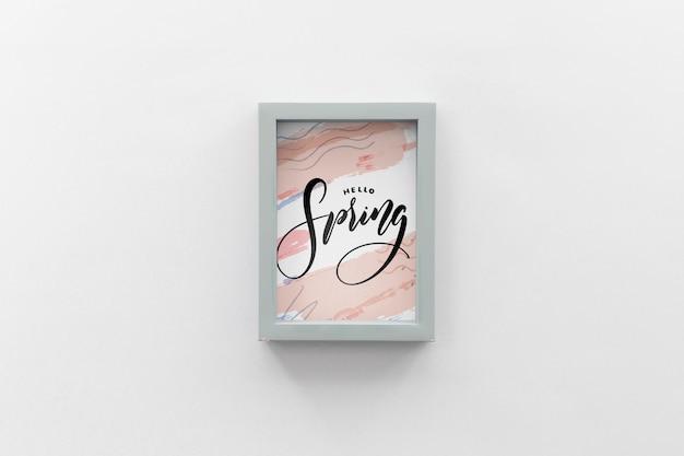 Maquete de quadro plana leigos com conceito de primavera