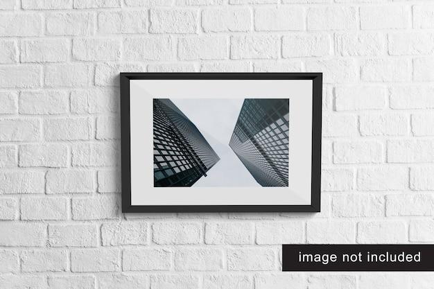 Maquete de quadro realista