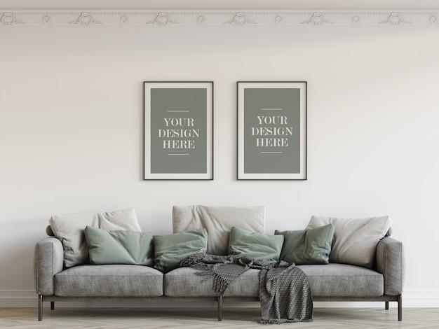 Maquete de quadros de parede