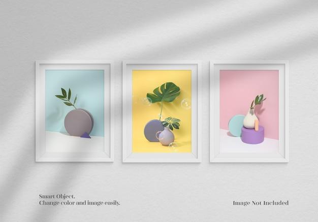 Maquete de quadros do minimlaist