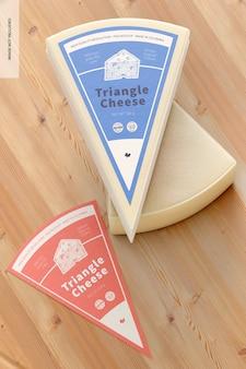 Maquete de queijo triângulo, vista superior