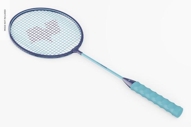Maquete de raquete de badminton