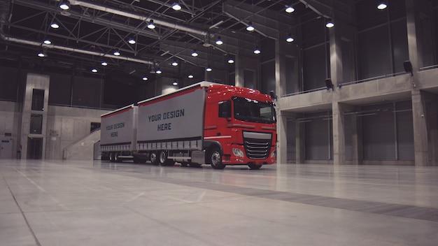Maquete de reboque de caminhão
