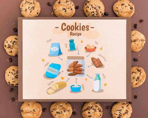 Maquete de receita de cookies