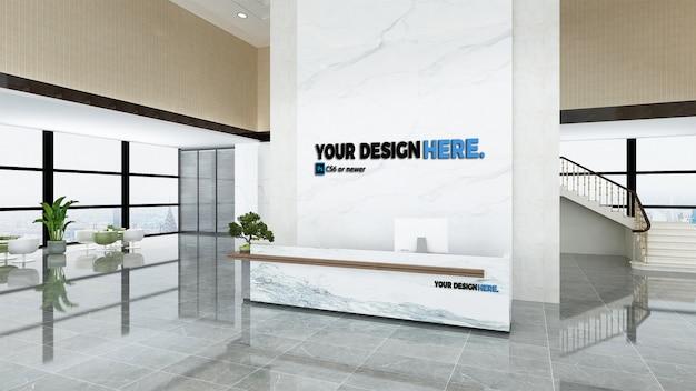 Maquete de recepção do escritório de negócios