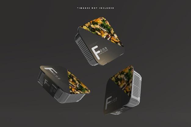 Maquete de recipiente de comida de tamanho médio